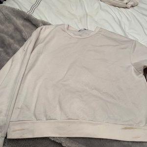 Off white Zara sweatshirt